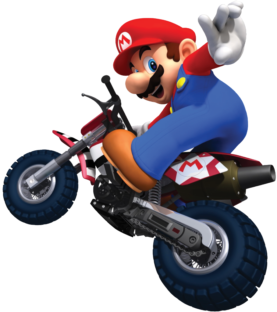 Wheel Bicycle Kart Bros Accessory Mario Wii PNG Image