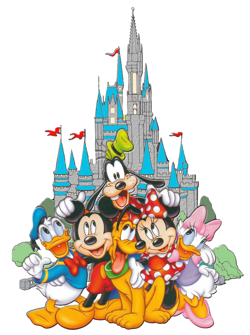Mickey Mountain Splash Minnie Pluto Donald Goofy PNG Image