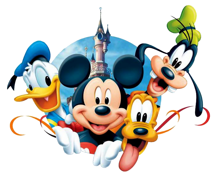 Mickey Minnie Pluto Donald Goofy Duck Mouse PNG Image