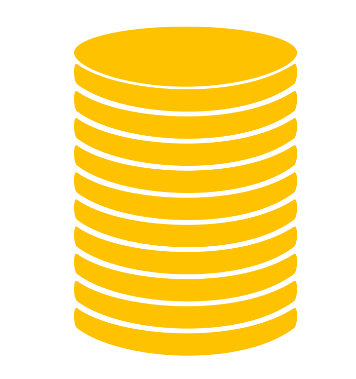Coin Stack Transparent PNG Image