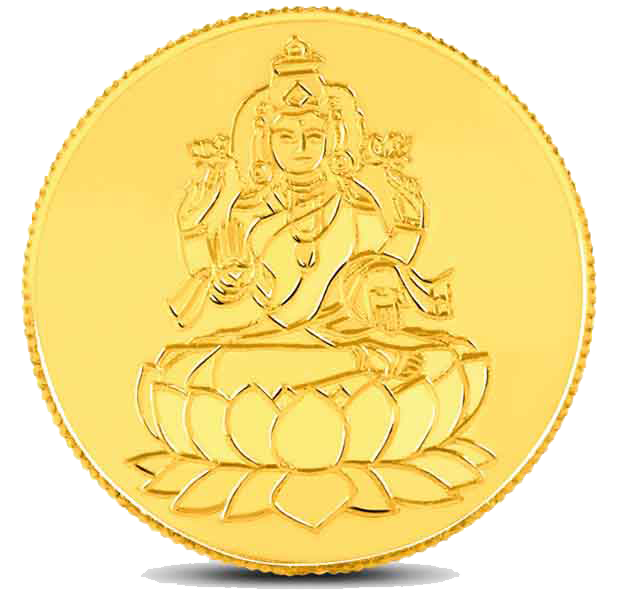 Lakshmi Gold Coin Transparent PNG Image