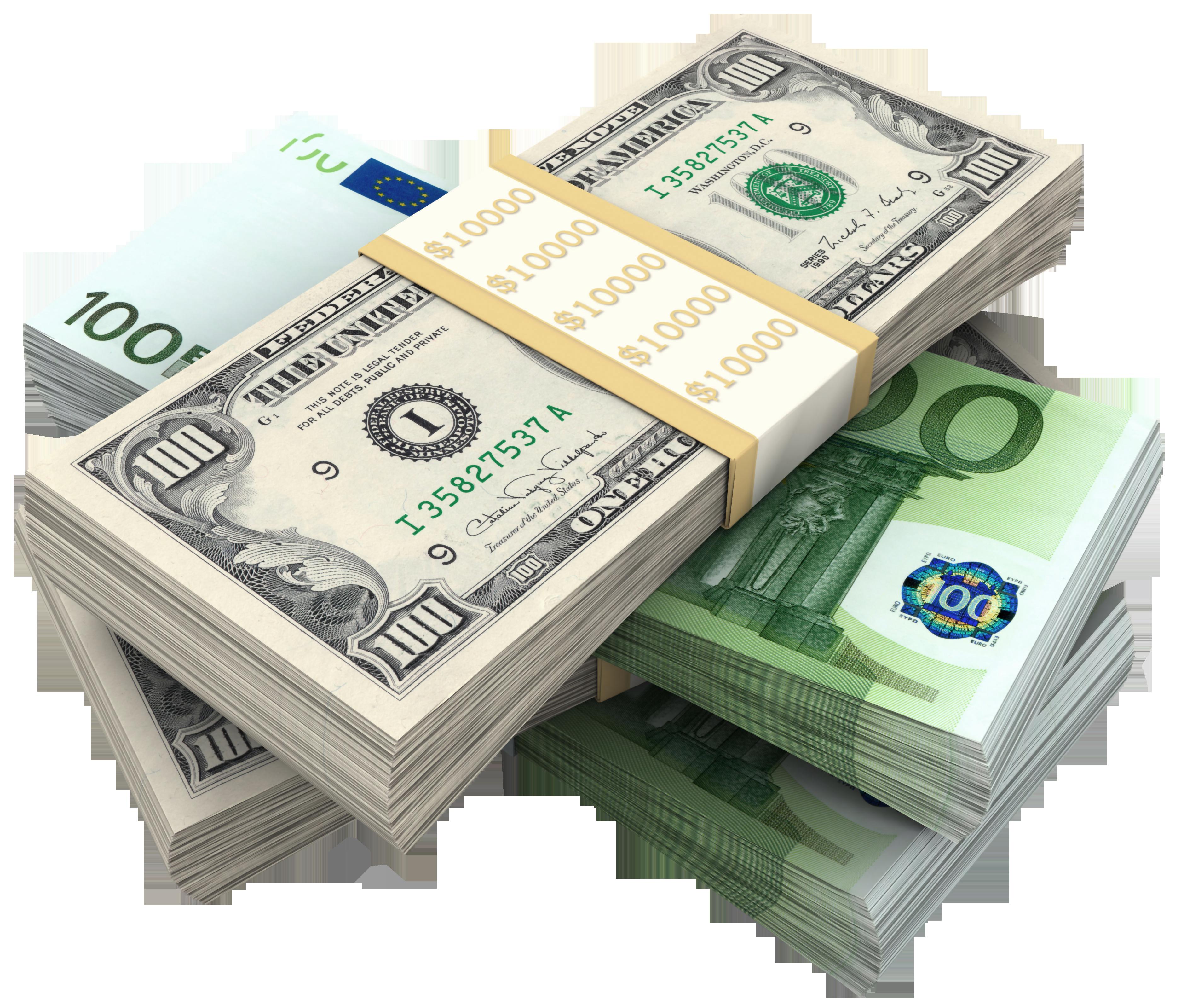 Dollars Bundles Of Euro Hq Png Image