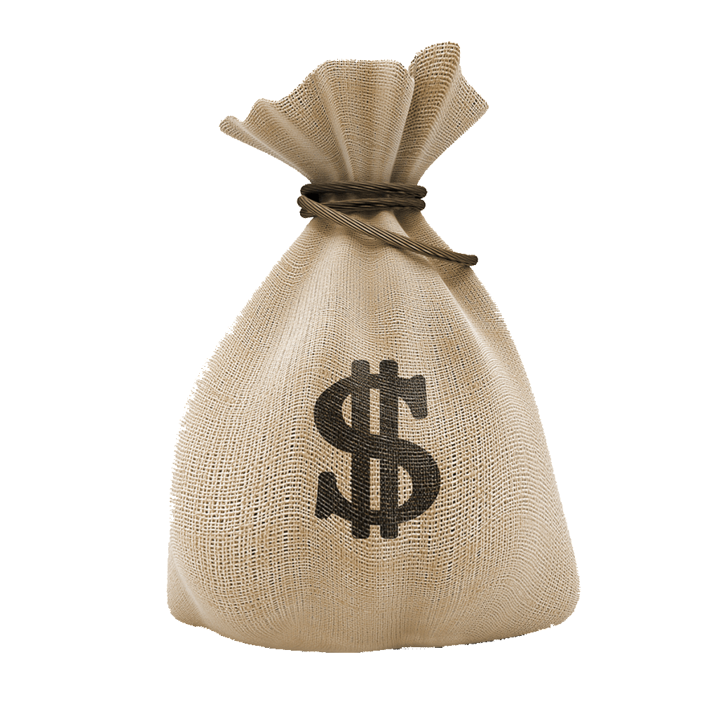 United Money Dollar States Bag Coin Investment PNG Image