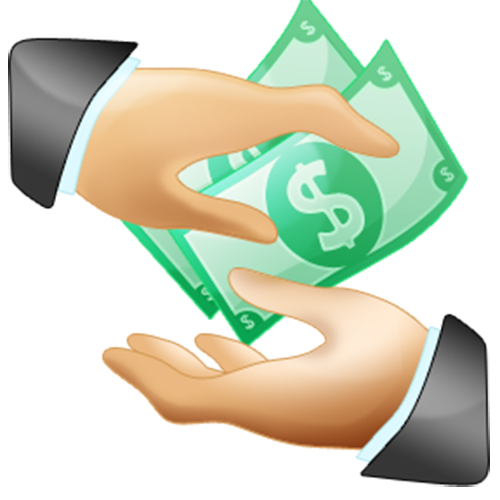 Salary Money Dollar Hand Holding The Payment PNG Image
