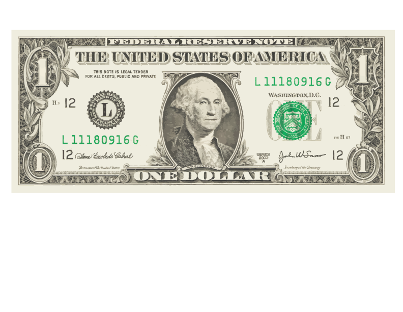 Five-Dollar United Bill Dollar One-Dollar One States PNG Image