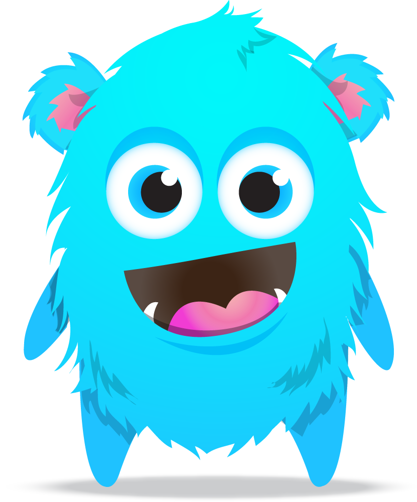 Blue Monster Transparent PNG Image
