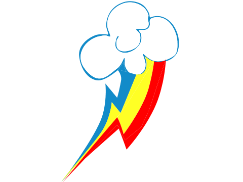 Rainbow Dash Cutie Mark File PNG Image