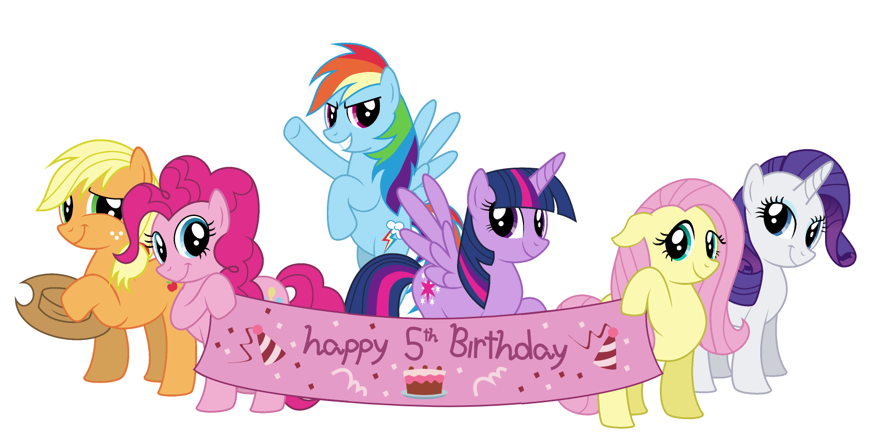 Little Pony Pinkie Pie Greeting Note Birthday PNG Image