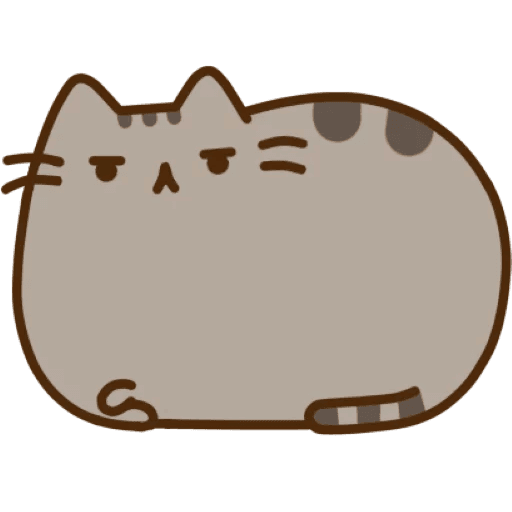 Brown Medium Sticker Pusheen Cat Sized To PNG Image