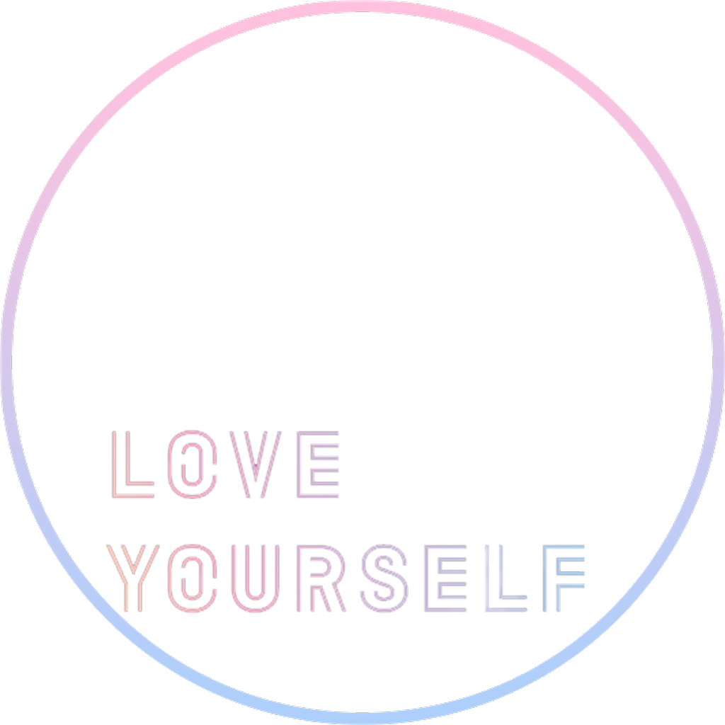 Pink Love Her Bts Tear Text Yourself PNG Image