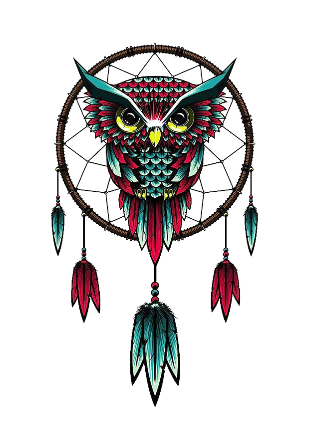Owl Dreamcatcher Wallpaper T-Shirt China Wind PNG Image