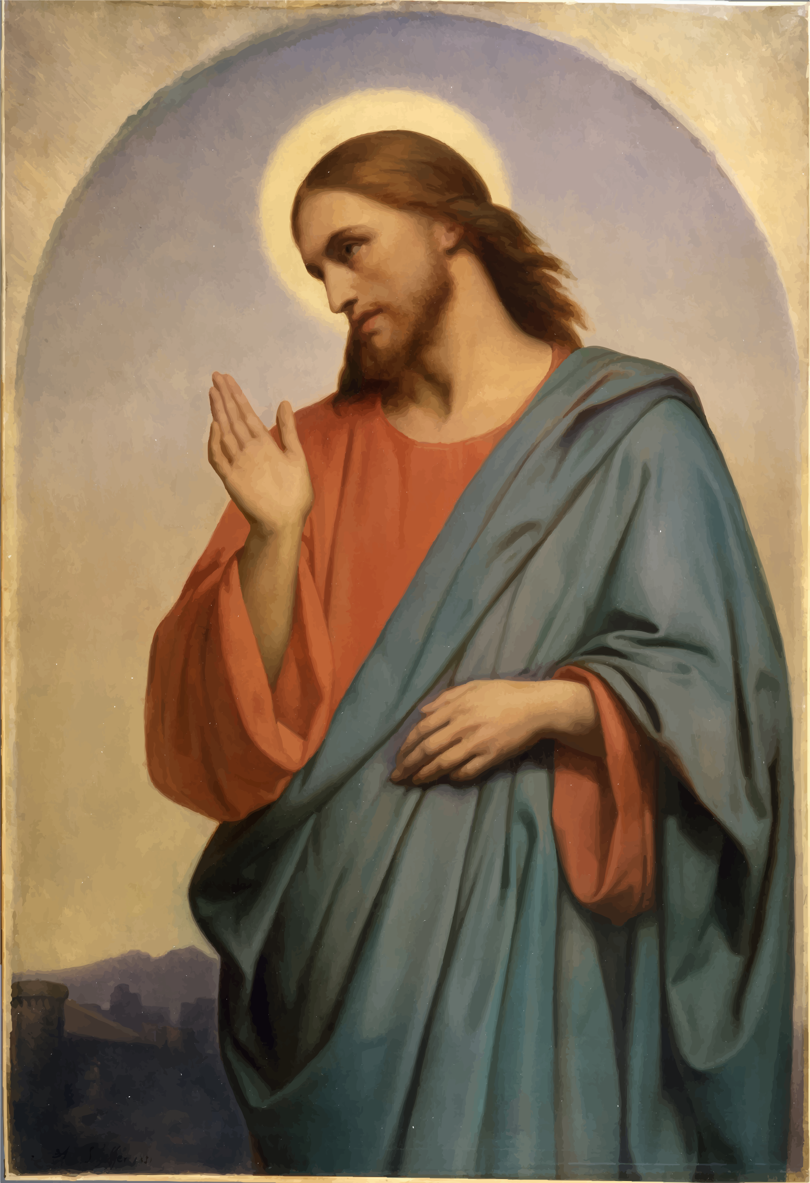 And Scheffer Art Christ Artist Ary Museum PNG Image