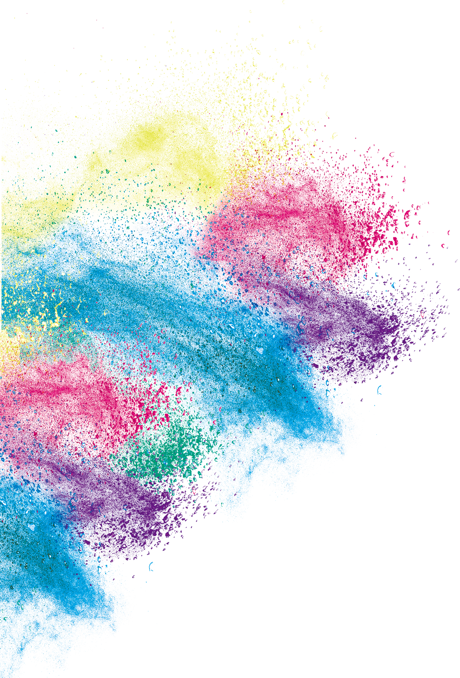 Art Inkjet Color Effect Creative Printing Dust PNG Image