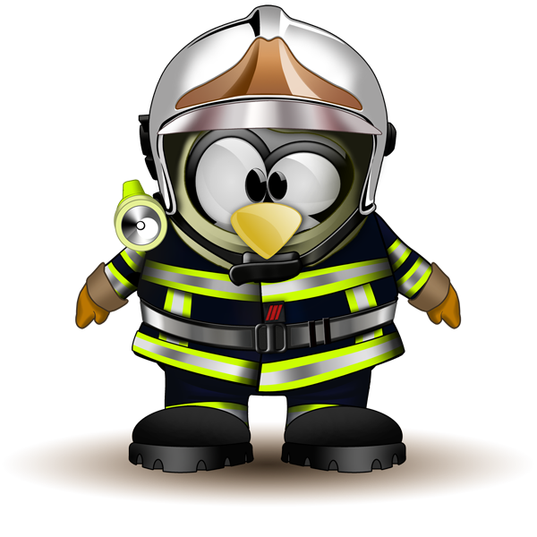 Tux Fire Firefighter Sapper Station Junior PNG Image