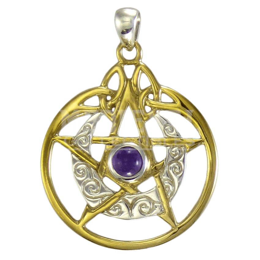Charms Gold Dreamcatcher Pendants Amethyst Earrings Pentagram PNG Image