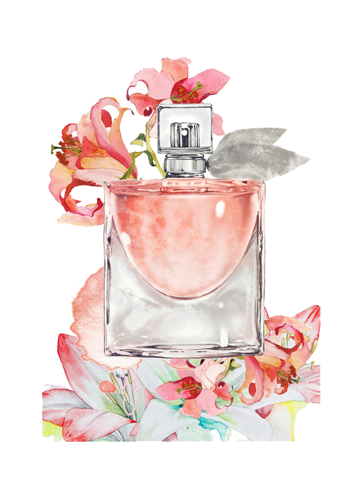 Painting Bottle Perfume Free Transparent Image HQ PNG Image
