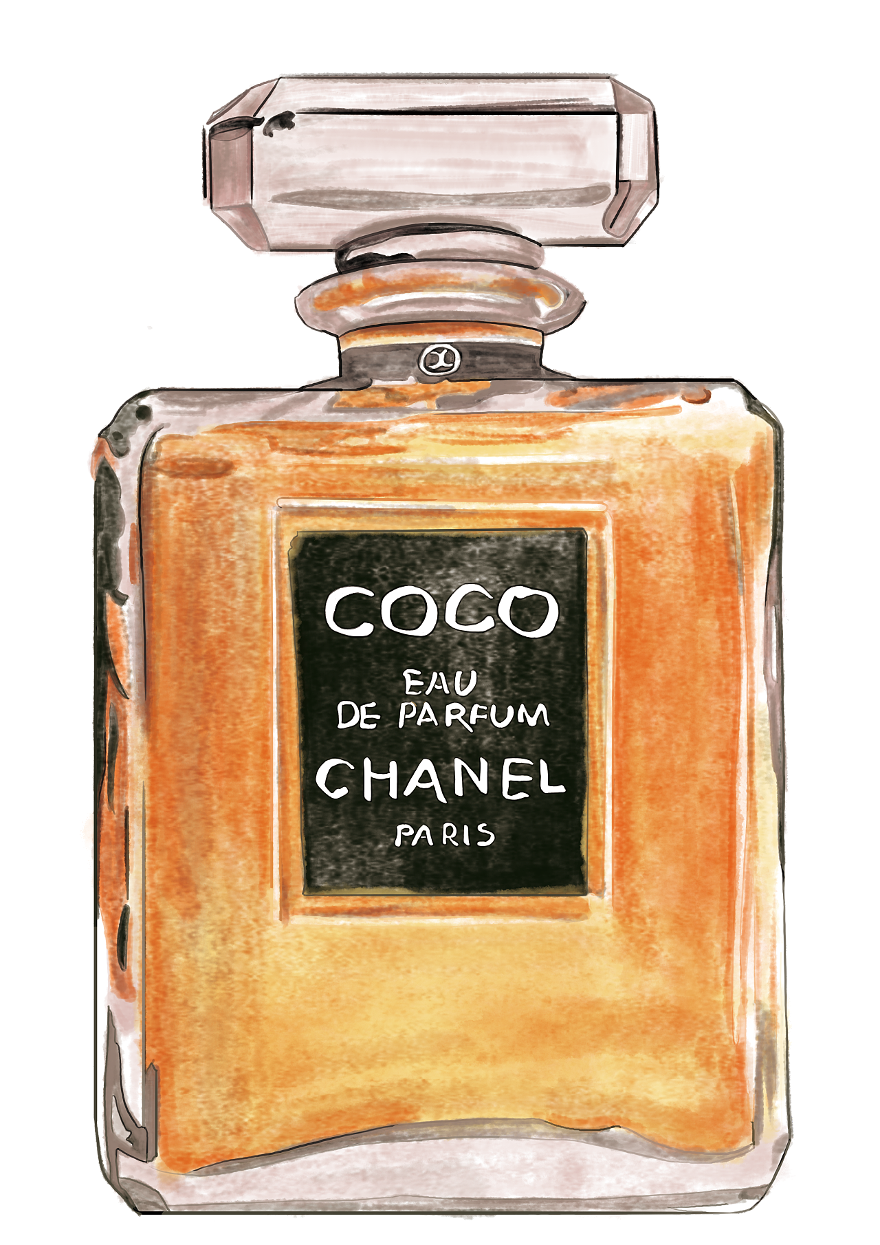 Ck One Glass Bottle Perfume Chanel PNG Image