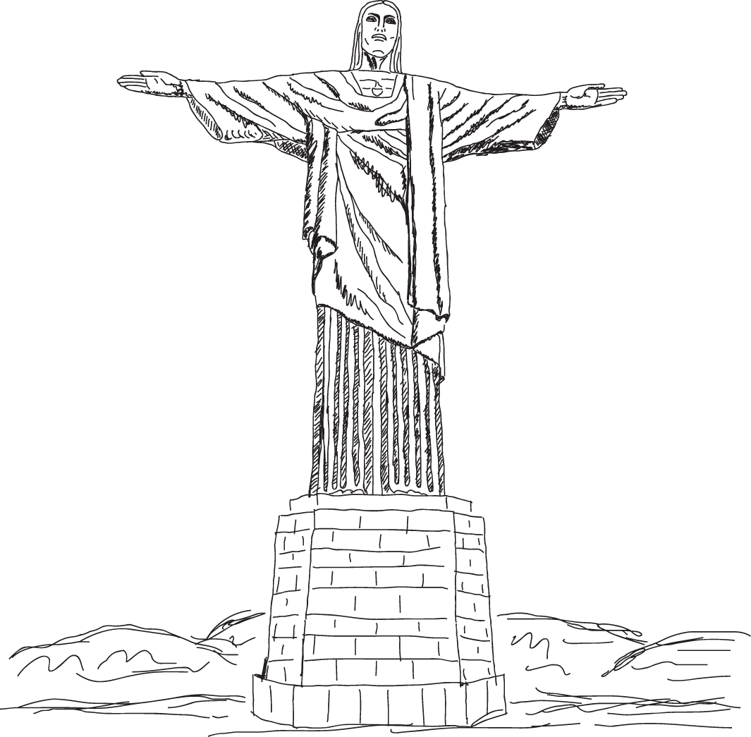 Christ Jesus Redeemer Vector Statue Artwork The PNG Image