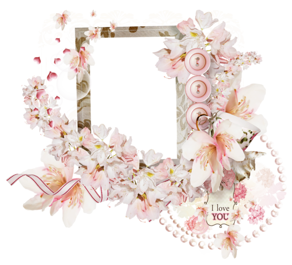 Pink Picture Frame Flower Photography Free PNG HQ PNG Image