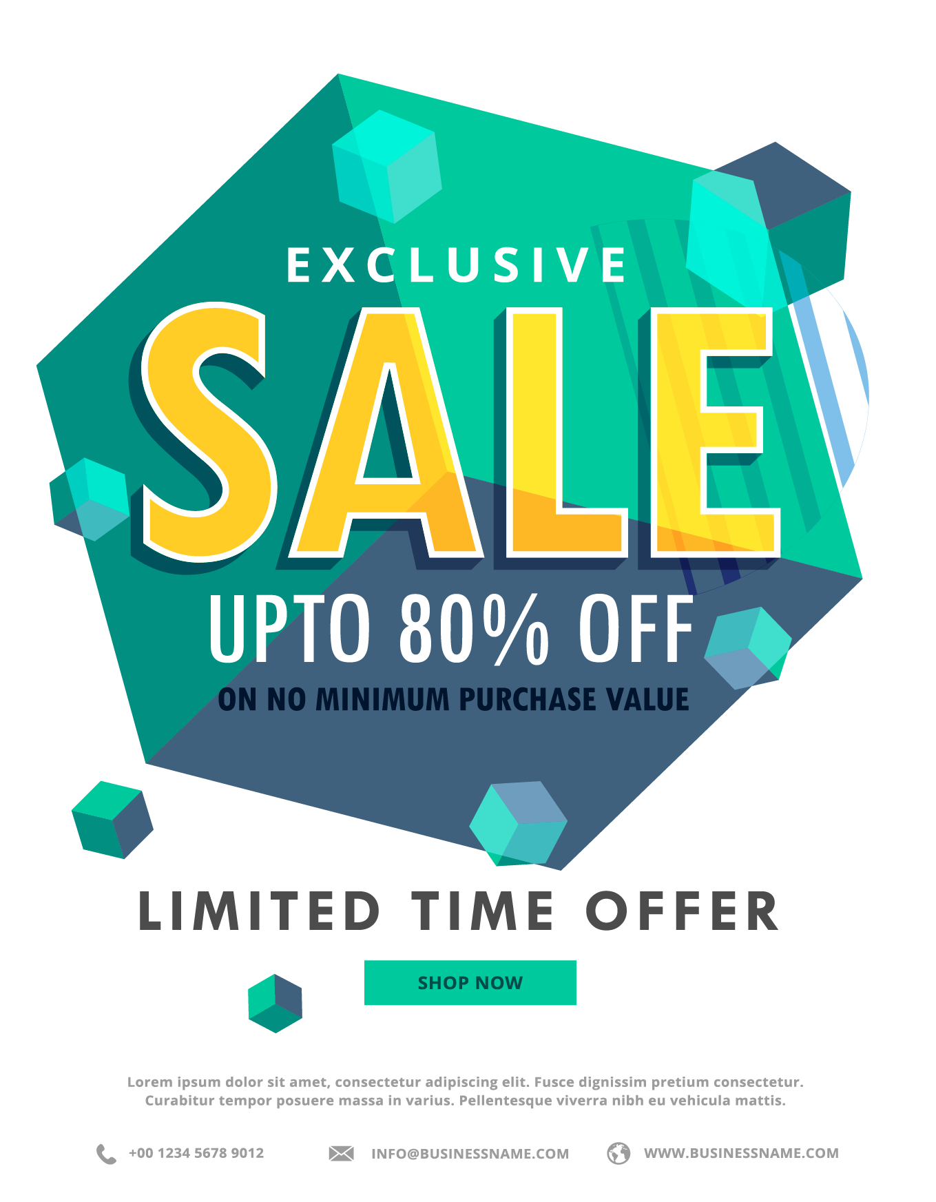 Poster Illustration Royalty-Free Discount Emerald Hexagonal PNG Image