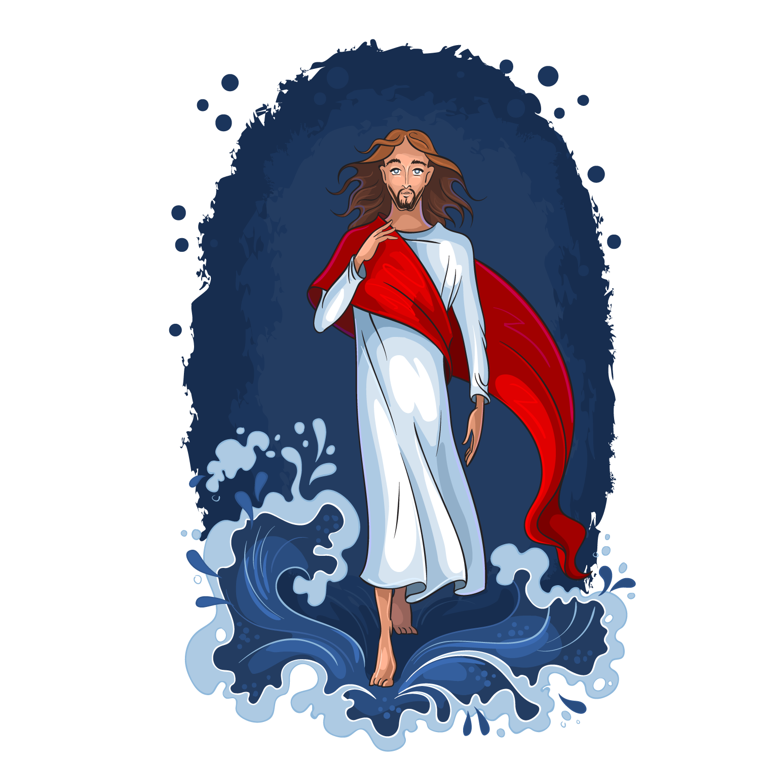 Photography Back Illustration Jesus Vector Waves Resurrection PNG Image