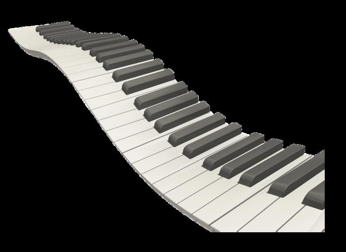 Download Wavy Piano Keys HQ PNG Image | FreePNGImg