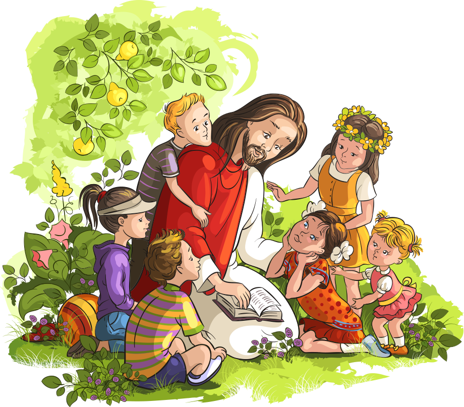 And Bible Read Illustration Jesus Vector Child PNG Image