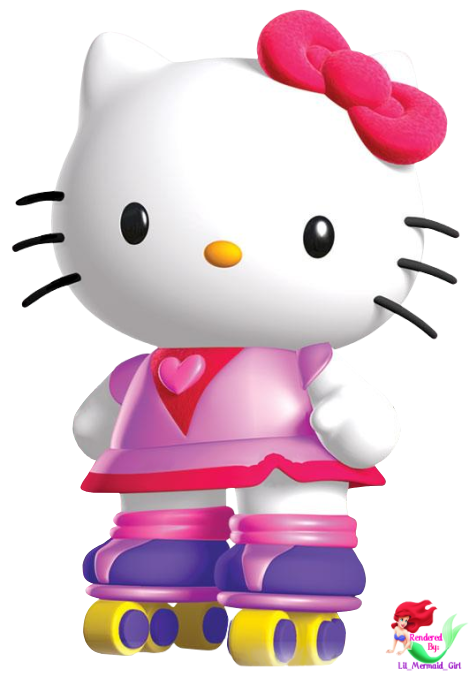 Pink Playstation Rescue Kitty Technology Hello Roller PNG Image