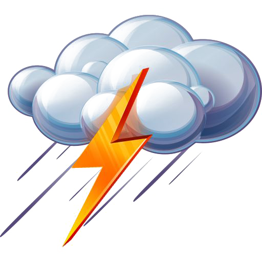 Ico Thunderstorm Rain Lightning Weather Icon PNG Image