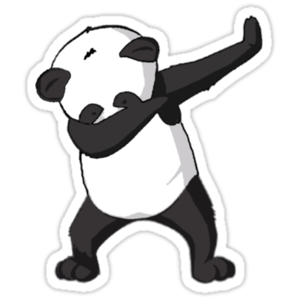 Giant Dab T-Shirt Avatar Panda Red PNG Image