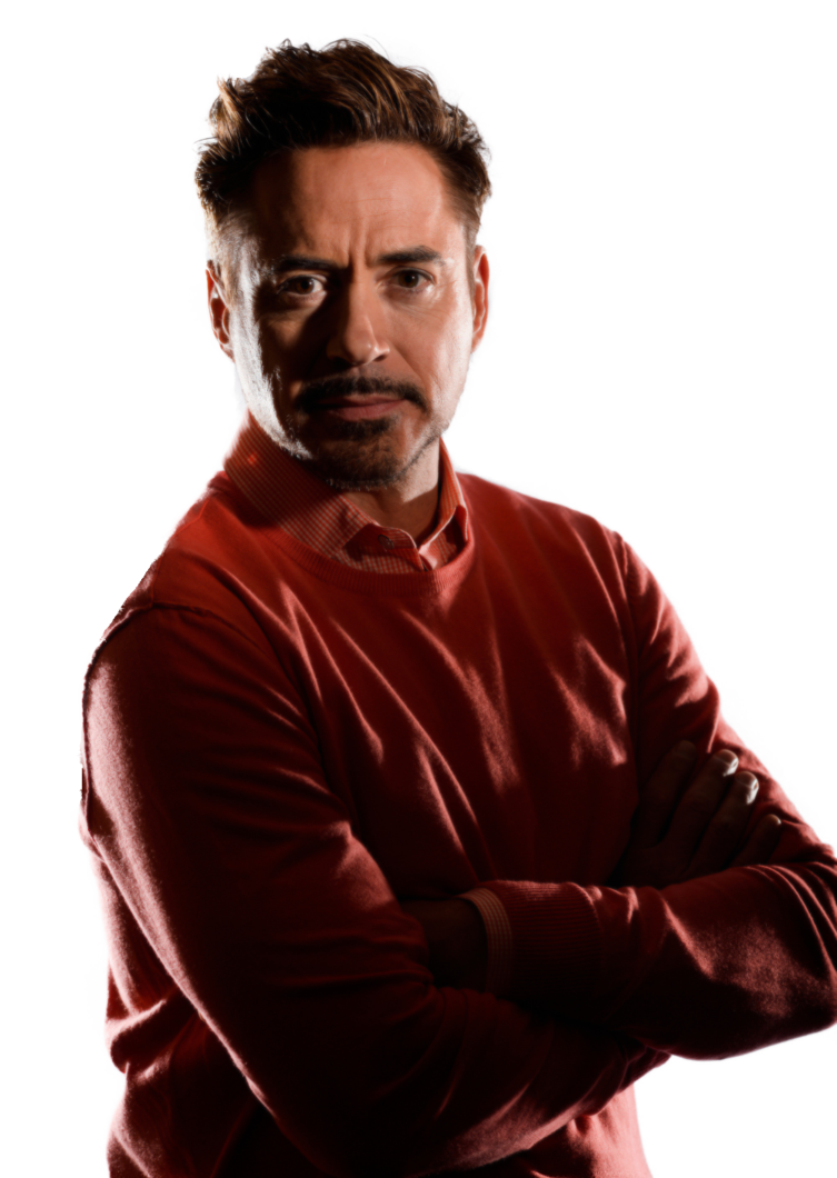 Robert Downey Jr Transparent Background PNG Image