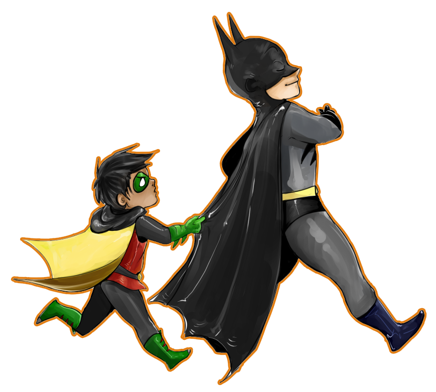 Batman And Robin Transparent PNG Image