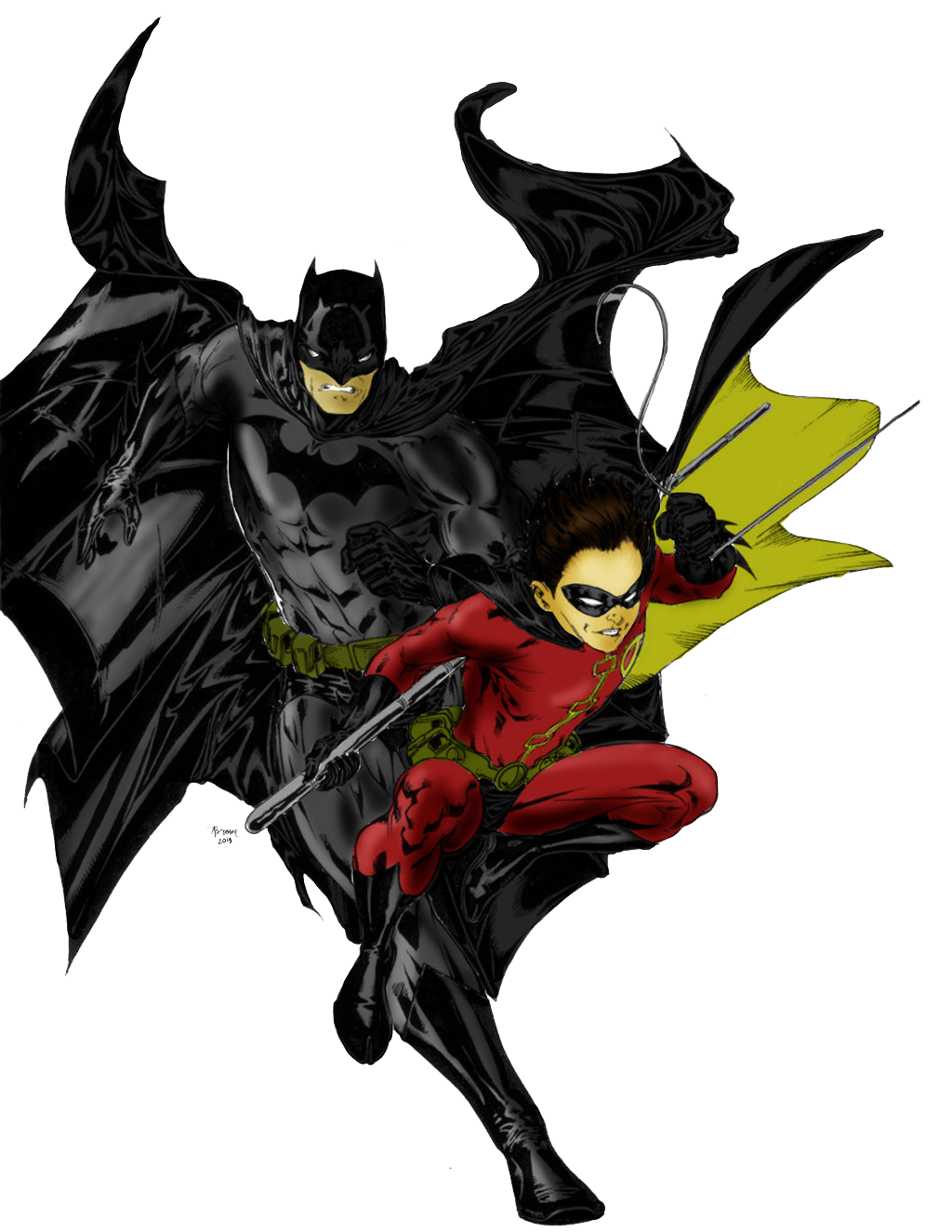 Batman And Robin File PNG Image