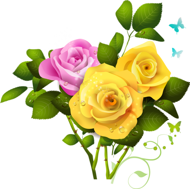 Yellow Rose File PNG Image
