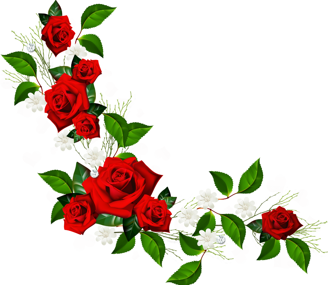 Rose Frame Flower Pic Red PNG File HD PNG Image