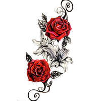 Download Rose Tattoo Free Png Photo Images And Clipart Freepngimg