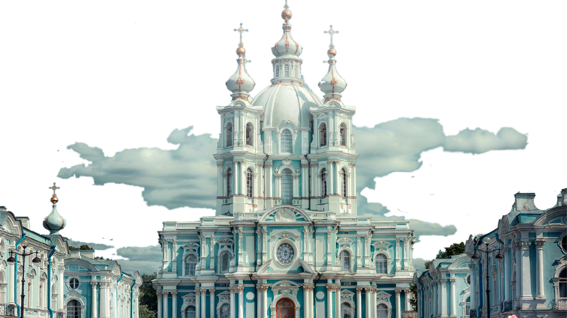 Building Convent Smolny Facade Architecture Russian PNG Image
