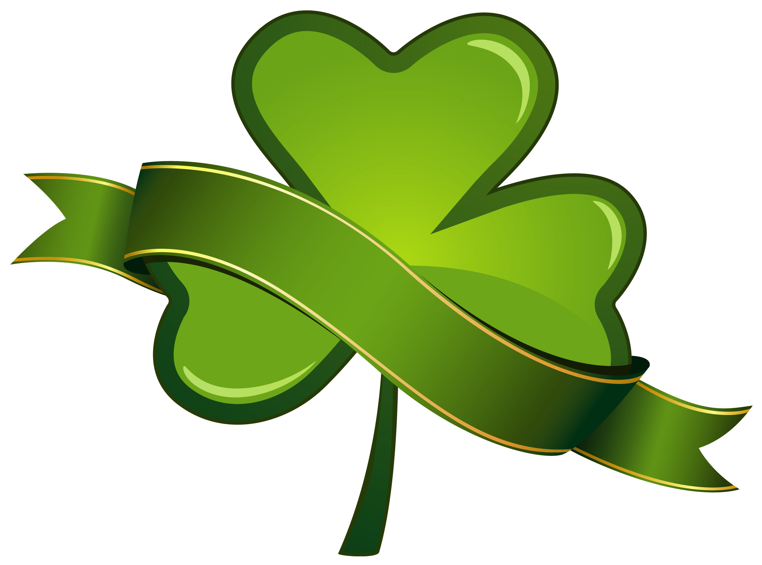 Heart Leaf Ireland Patrick Shamrock Saint Day PNG Image