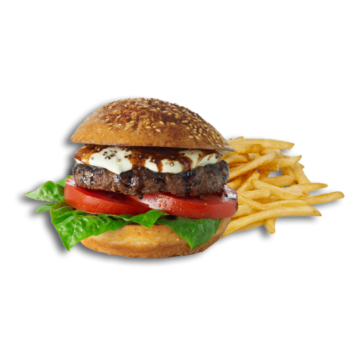 King Hamburger Slider Cheeseburger Fries French Burger PNG Image
