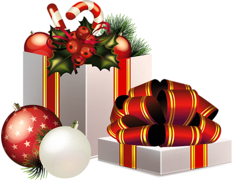 Decoration Gift Claus Transparent Gifts Santa Christmas PNG Image
