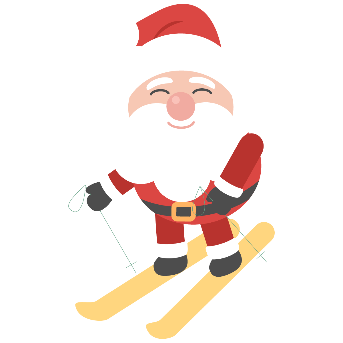 Portable Claus Day Brazilian Design Santa Graphics PNG Image