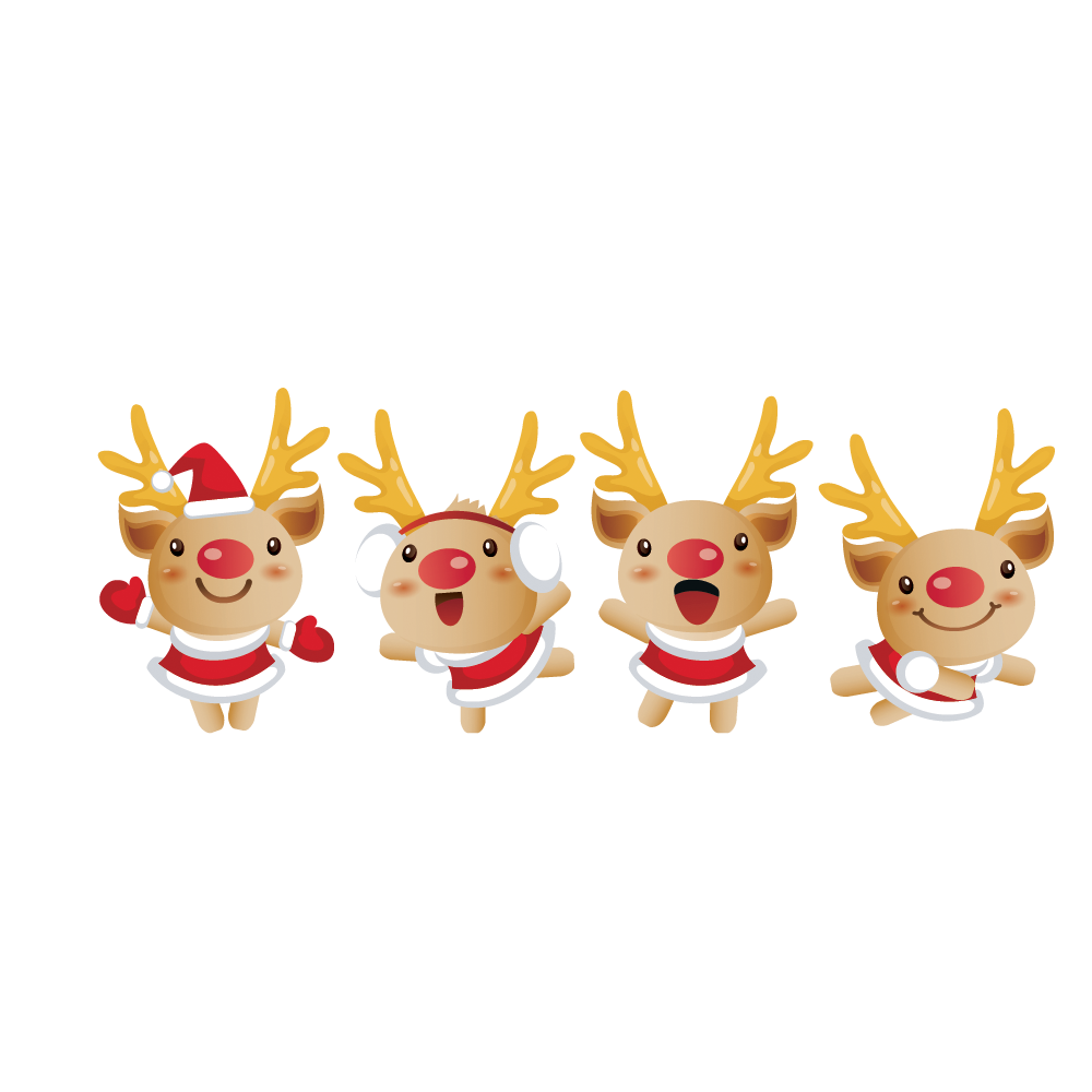 Reindeer Christmas Santa Clauss HQ Image Free PNG PNG Image