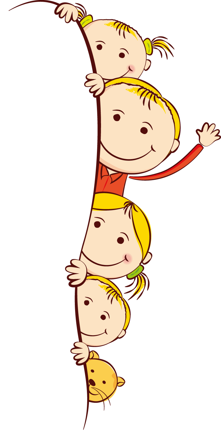 Cute Frame Kids Cartoon Child Free Clipart HD PNG Image