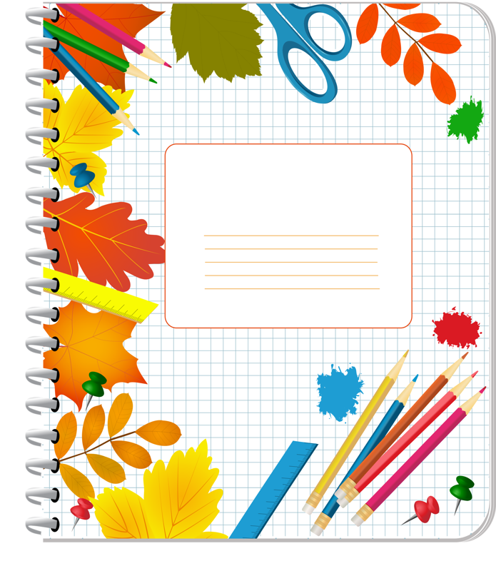 Cover School Notebook Crayon Drawing PNG Download Free PNG Image