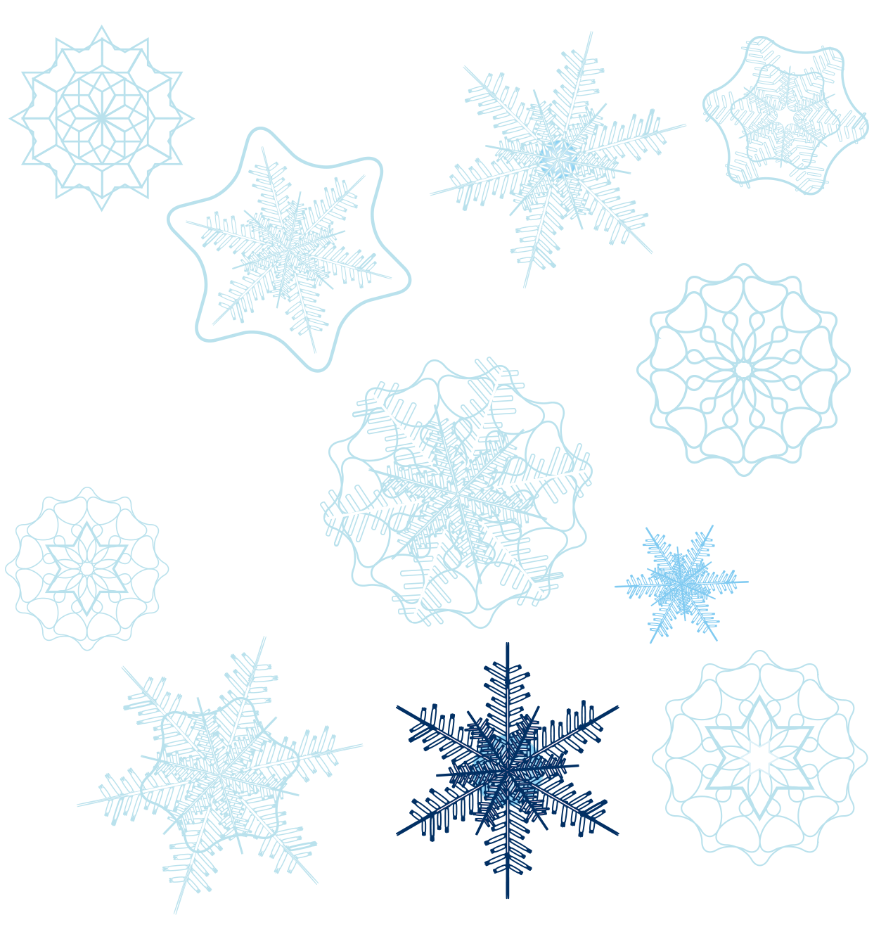 Of Shape Snowflakes Snowflake Variety PNG Free Photo PNG Image