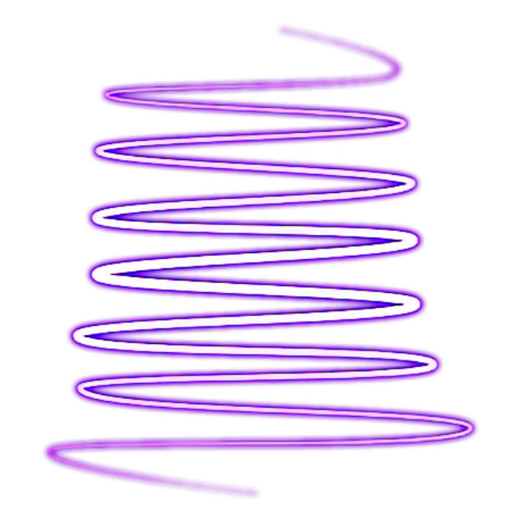 Ahmed Sticker Neon Spiral Sign Shape PNG Image