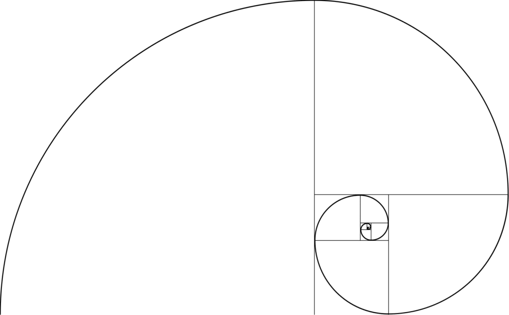 Golden Ratio Spiral Number Fibonacci White Circle PNG Image