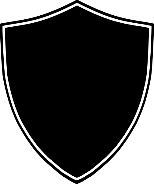 Shield Clip Art Black And White Transparent PNG Image