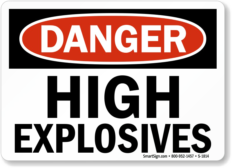 Explosive Sign PNG Image High Quality PNG Image