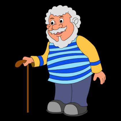 Большие, рисунок дедушки для детей